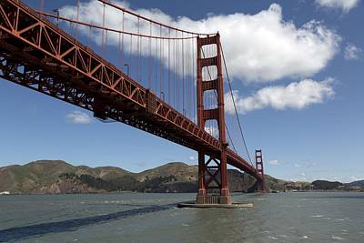 Painting - Golden Gate Bridge, San Francisco, California 2 by Celestial Images