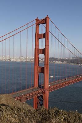 Painting - Golden Gate Bridge, San Francisco, California 3 by Celestial Images