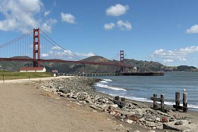 Painting - Golden Gate Bridge, San Francisco, California By Carol M. Highsmith 9 by Carol M Highsmith