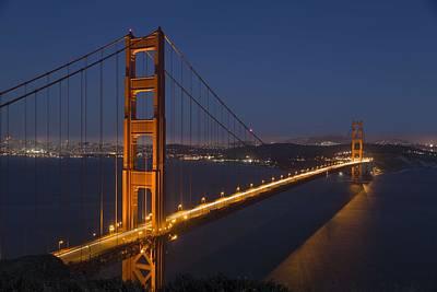 Painting - Golden Gate Bridge, San Francisco, California by Celestial Images