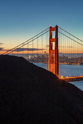 Photograph - Golden Gate Christmas Glow by ProPeak Photography