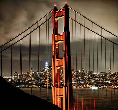 Abstract Graphics - Golden Gate Cityscape by Craig Voth
