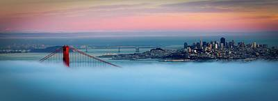 Photograph - Golden Gate Foggy At Morning by Mark Brodkin Photography