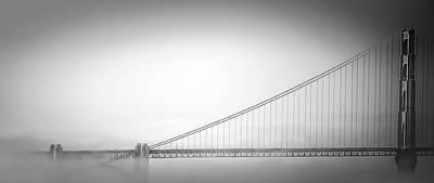 Photograph - Golden Gate In Fog by Don Schwartz