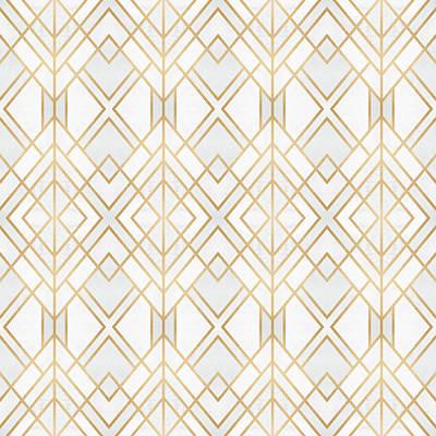 Pattern Digital Art - Golden Geo by Elisabeth Fredriksson