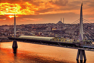 Photograph - Golden Horn Metro Bridge by Fabrizio Troiani