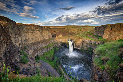 Reptiles Royalty-Free and Rights-Managed Images - Golden Hour at Palouse Falls by Rick Berk