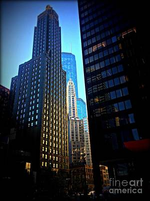 Frank J Casella Royalty-Free and Rights-Managed Images - Golden Hour Reflections - City of Chicago by Frank J Casella