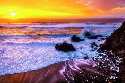 Photograph - Golden Hour Sunset by Garry Gay