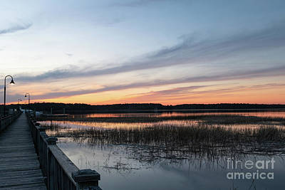 Photograph - Golden Hour - Wando River by Dale Powell