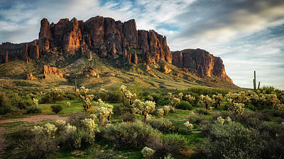 Photograph - Golden Light  On The Superstitions  by Saija Lehtonen