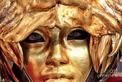 Photograph - Golden Lion Carnevale Di Venezia by John Rizzuto