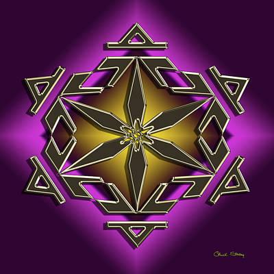 Digital Art - Golden Mocha On Purple 2 by Chuck Staley