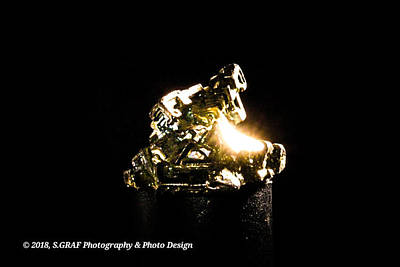 Photograph - Golden Shiny Mineral by Sven Graf