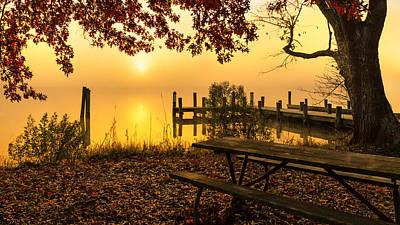 Photograph - Golden Sunrise on the Patuxent by Jay Whipple