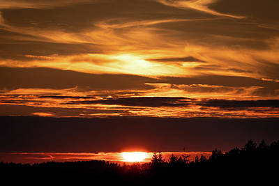Photograph - Golden Sunset by Framing Places