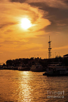 Photograph - Golden Sunset In Lido Italy by Marina Usmanskaya