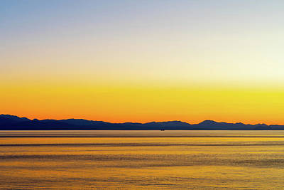 Photograph - Golden Sunset Series I V by Debbie Ann Powell