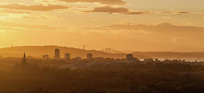 Photograph - Golden Sunset Over Edinburgh by Karsten Moerman