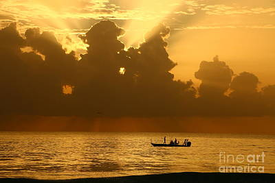 Photograph - Golden Water Sunrise by Tom Claud