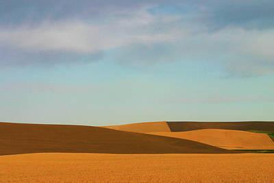 Photograph - Golden Wheat Fields In Palouse Region by Kathy Van Torne