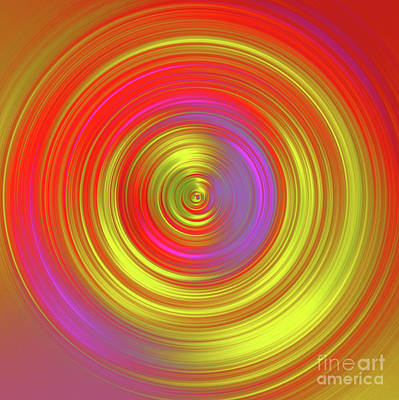 Mixed Media - Golden Wheel by Alex Caminker