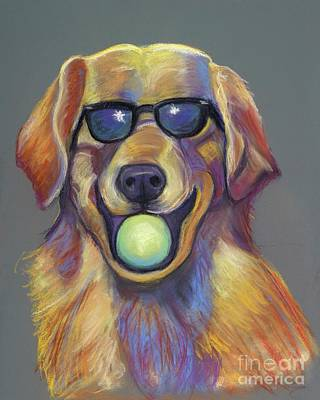 Pastel - Golden With Ball by Ann Hoff