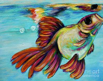 Painting - Goldfish by Jacqueline Athmann