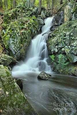 Photograph - Goldmine Brook Falls Cascades by Adam Jewell
