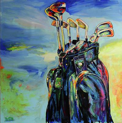 Golf Bag And Clubs Original