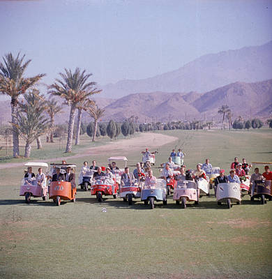 Photograph - Golf Carts On Thunderbird Golf Club by Loomis Dean