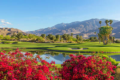 Sky Photograph - Golf Course In Palm Springs, California by Ron thomas