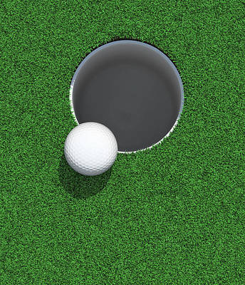 Photograph - Golfball On The Lip Of The Cup  Hole by Atomic Imagery