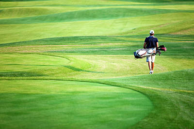 Photograph - Golfer by Logosstock