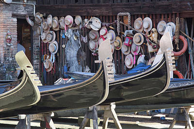 Photograph - Gondola Repair Shop by Matthew Pace