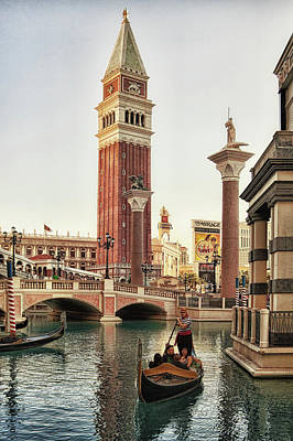 Photograph - Gondola Ride At Venetian, Las Vegas by Tatiana Travelways