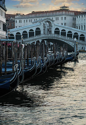 Photograph - Gondolas Of Venice by Jaroslaw Blaminsky