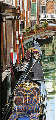 Painting Rights Managed Images - Gondole Colorate Royalty-Free Image by Guido Borelli