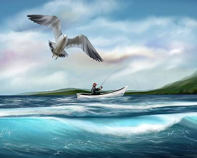 Digital Art - Gone Fishing by Mark Taylor