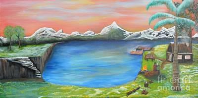 Painting - Gone Fishing by Sabine ShintaraRose