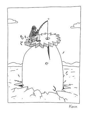 Drawing - Gone Fishing by Zachary Kanin