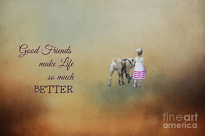 Photograph - Good Friends Make Life So Much Better by Eva Lechner