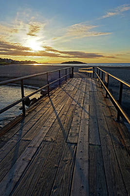 Photograph - Good Harbor Footbridge At Sunrise Gloucester Ma by Toby McGuire