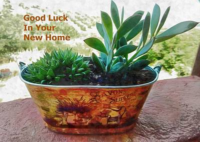 Mixed Media - Good Luck In Your New Home by Dorothy Berry-Lound