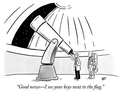 Flag Drawing - Good News by Pia Guerra