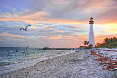 Photograph - Good Night Cape Florida Lighthouse by Photo Taken By Crawford A. Wilson Iii