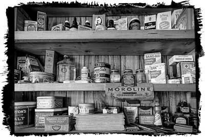 Photograph - Good Old Fashioned Country In Black And White by Debra and Dave Vanderlaan