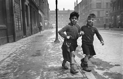 Child Photograph - Gorbals Boys by Bert Hardy