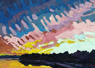 Painting - Gordon Thin Cirrostratus Sunset by Phil Chadwick