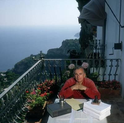Balcony Photograph - Gore Vidal by Slim Aarons